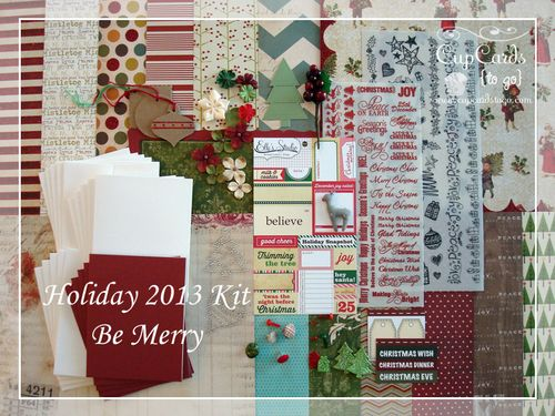 Holiday 2013 Kit-Be Merry  $24.00