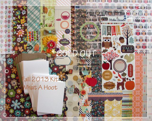 Fall 2013 Kit-What A Hoot!  SOLD OUT